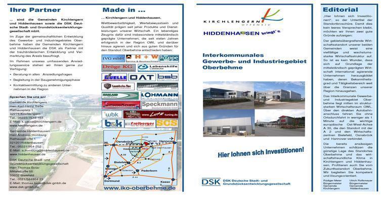 Broschüre gefaltet DIN A 3